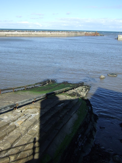 Slipway into Staithes Harbour