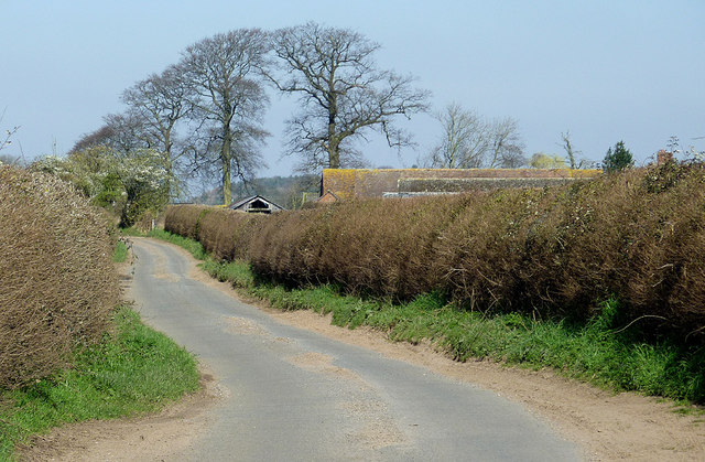 Lane near Cranmere north of Worfield, Shropshire