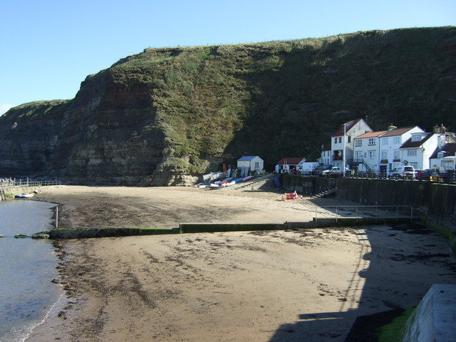 Beach at low tide, Staithes