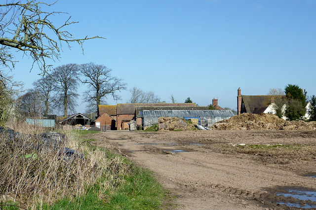Farm buildings at Cranmere north of Worfield, Shropshire