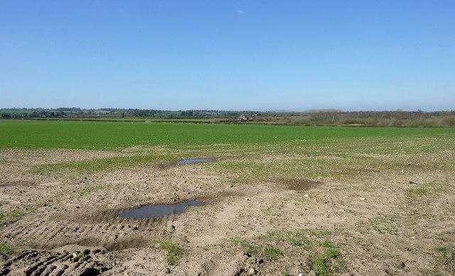 Farmland north of Worfield, Shropshire