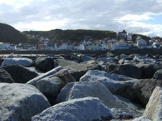 Sea defences, Staithes