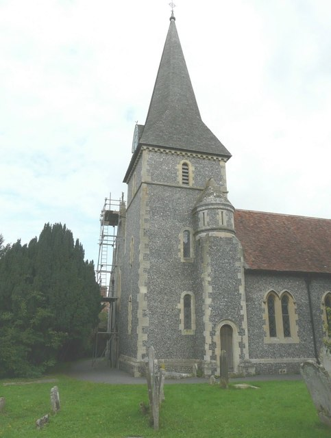 Scaffolding on St Peter's church