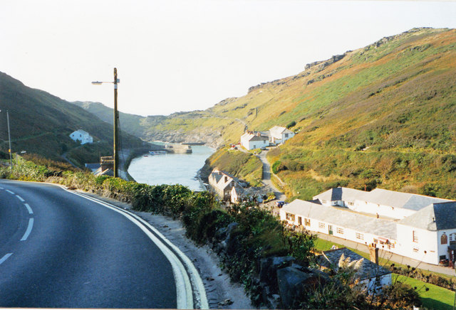 See almost to the sea-Boscastle, Cornwall
