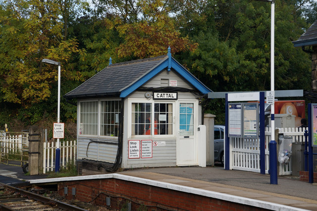 Signal Box at Cattal Train Station