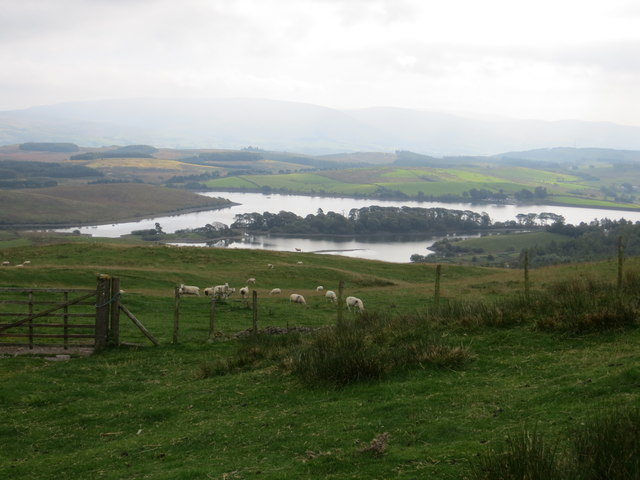 Killington Reservoir seen from the bridleway on Millrigg Moor