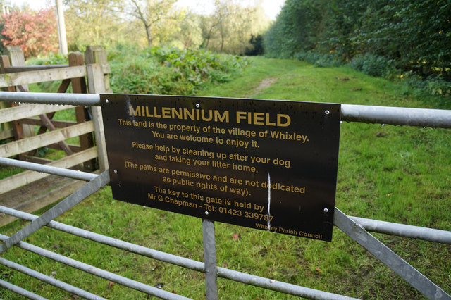 Millennium Field on High Street, Whixley