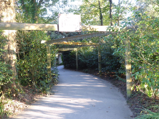 The entrance to Heligan Gardens from the car park