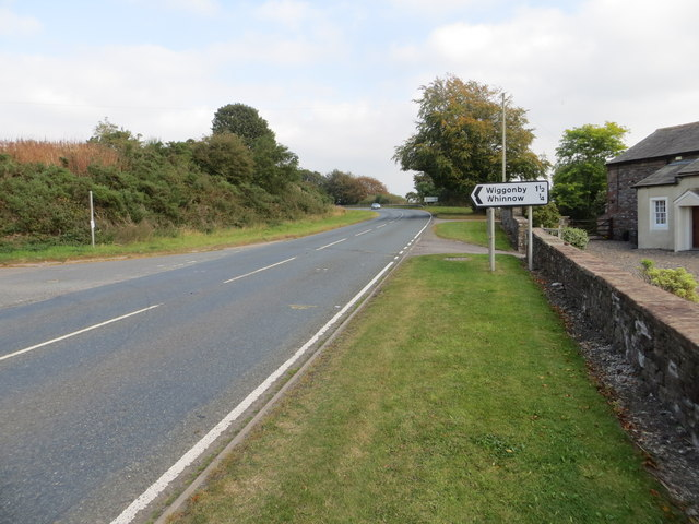 Road (A596) at Low Whinnow