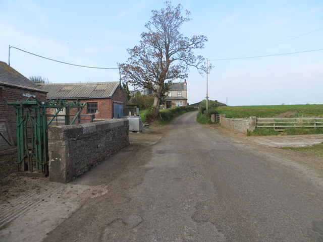 Road at Mid Whinnow Farm