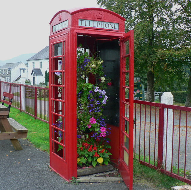 Decorative telephone box