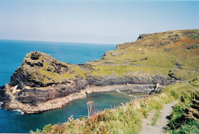 Geological waymark-Boscastle, Cornwall