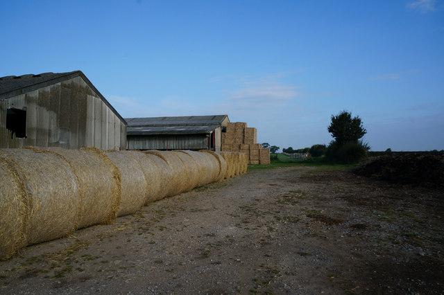Bales of hay at Fair View Farm