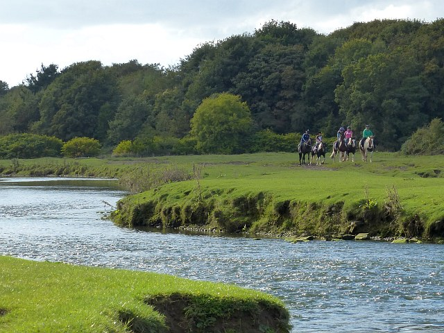 Horse riders beside the Ewenny River