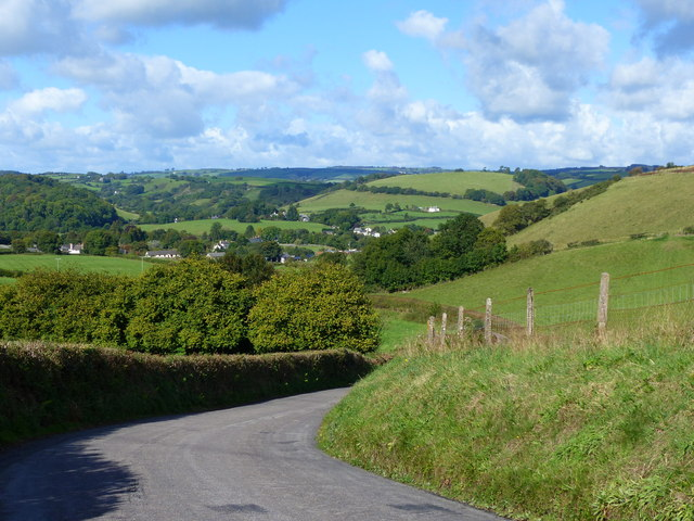 The Exe Valley Way is the road, near Exebridge