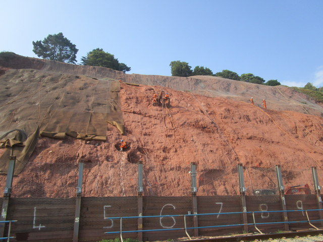 Work on the cliff face