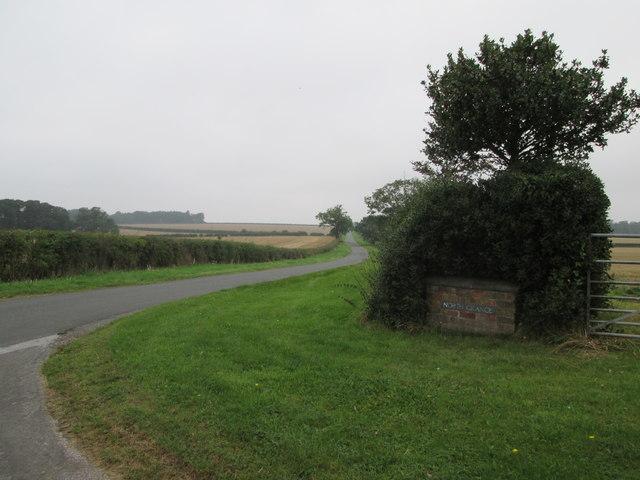 Road  toward  Huggate  from  North  Grange  junction
