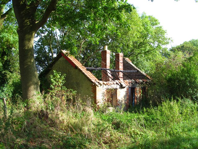 Burnt out cottage, Newton on Rawcliffe