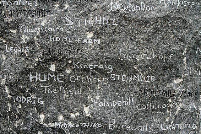 Community names on the Kelsae Stane