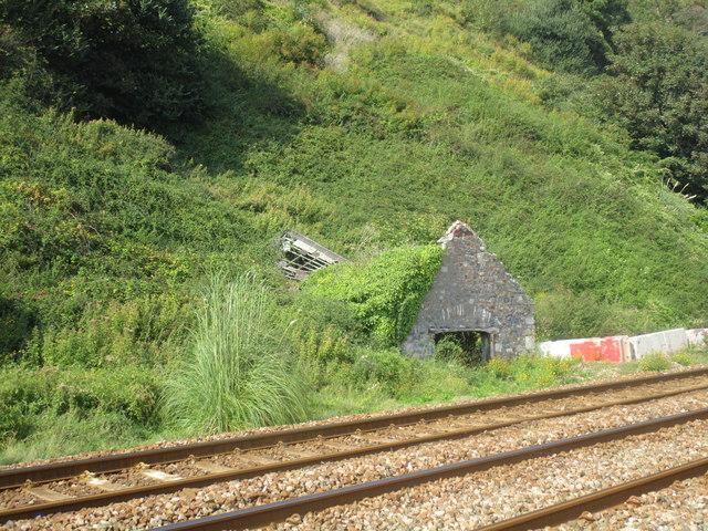Abandoned lineside shed