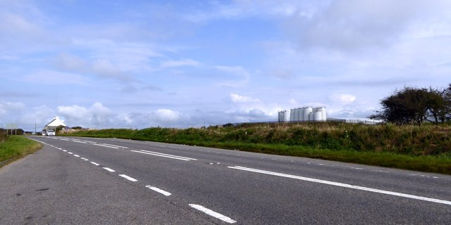 A39 near the Dairy Crest cheese factory