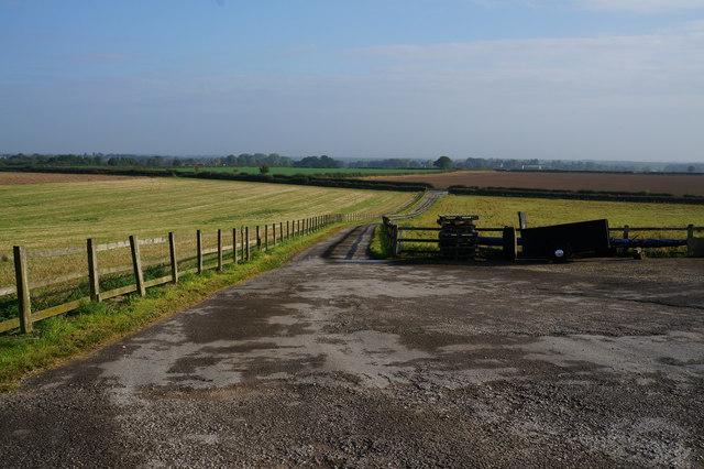 Farm track towards the B6265