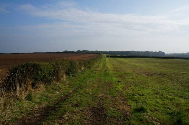 Public footpath towards Little Ouseburn
