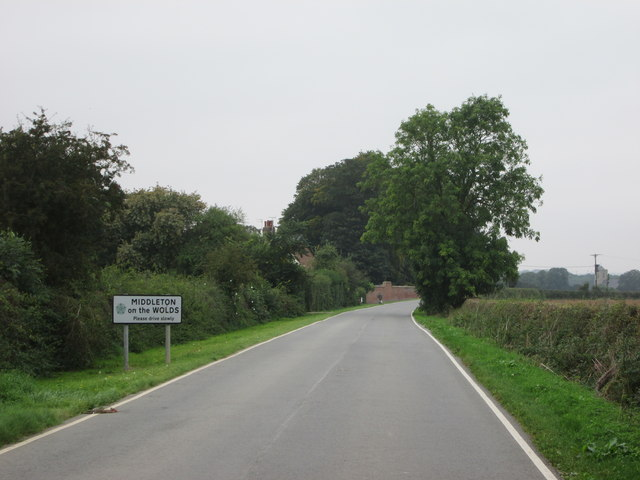 Entering  Middleton  on  the  Wolds  along  Beverley  Road