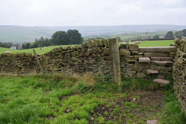 Stone stile above Carr Green