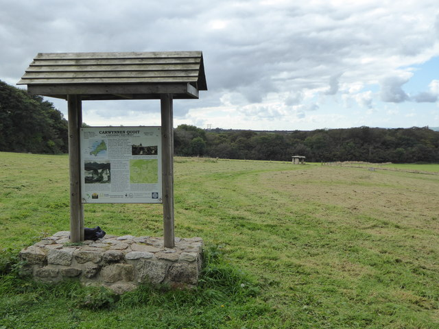 Information board at Carwynnen Quoit