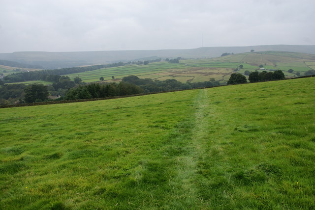 Path crossing a field below Austonley