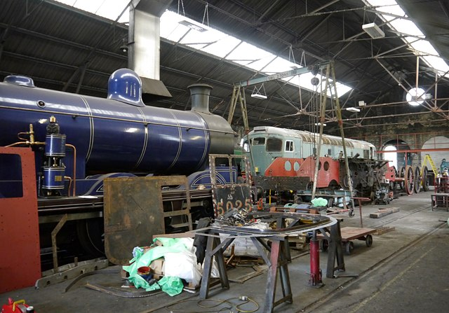 Inside the Aviemore engine shed