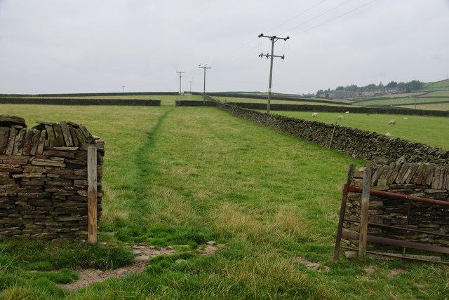 Fields above Holmbridge