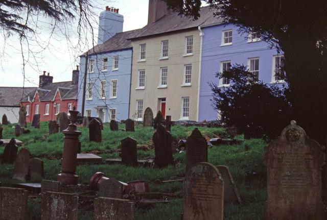 Bank Terrace and St Teilo's churchyard, Llandeilo