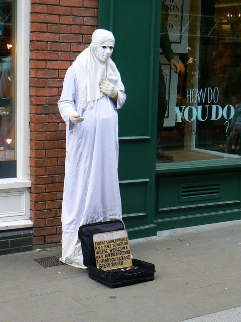 White man, Widemarsh Street, Hereford
