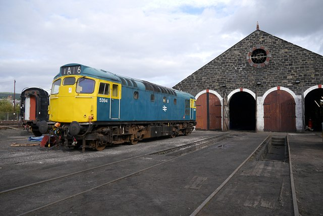 Class 27 locomotive, at Aviemore engine shed