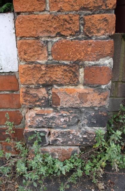 Site of benchmark on party wall of Nos. 127/129 Amity Road
