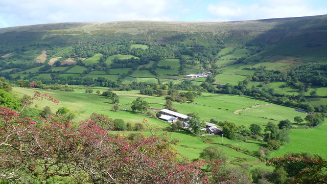 Early autumn in the Vale of Ewyas or Llanthony Valley