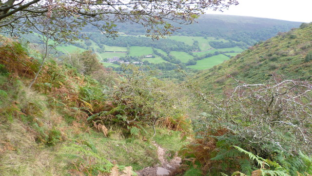 View to Llanthony from Cwm Bwchel