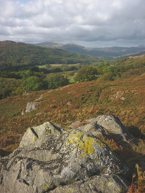 Looking north from Glade Haw (136m)