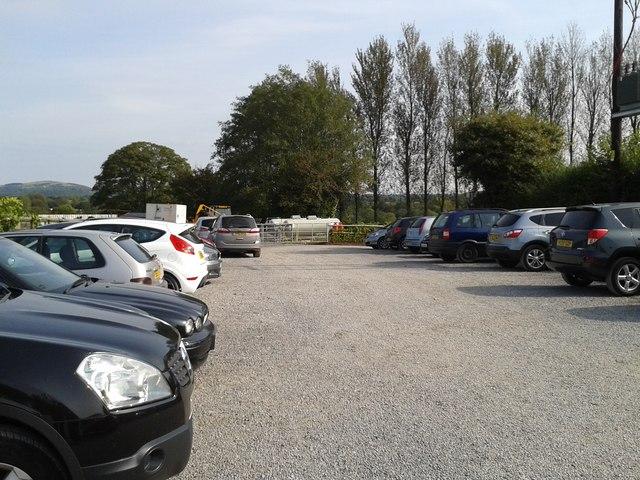 Parking at the vineyard