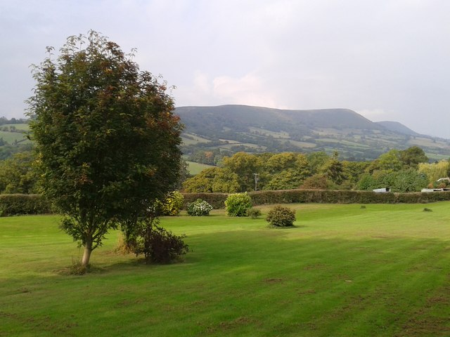 View of Hatterrall Hill from Pandy