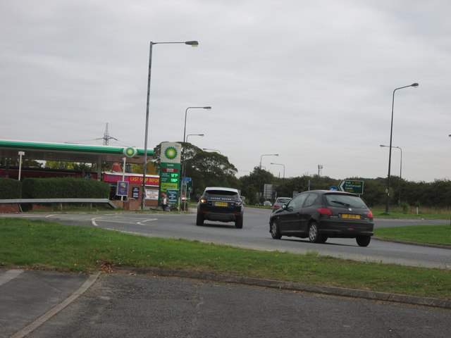 Roundabout  and  Filling  Station  A1079  Hull  Road