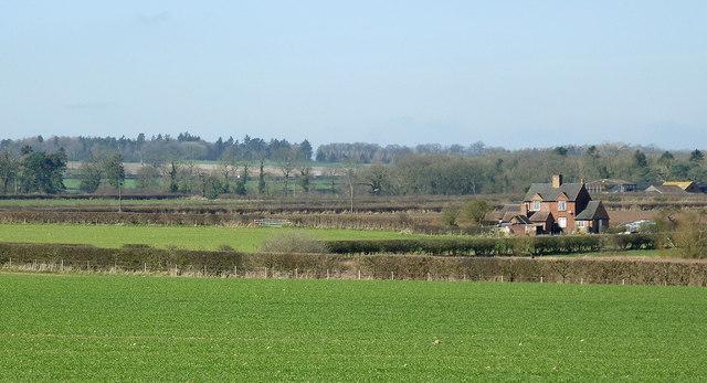 Shropshire farmland north of Worfield