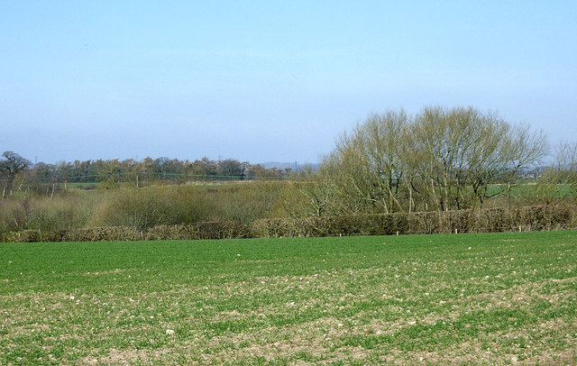 Farmland by The Bog, north of Worfield, Shropshire