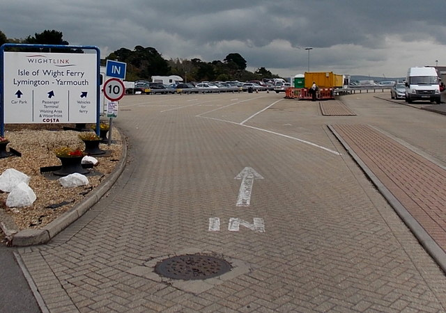 Isle of Wight Ferry terminal entrance, Lymington