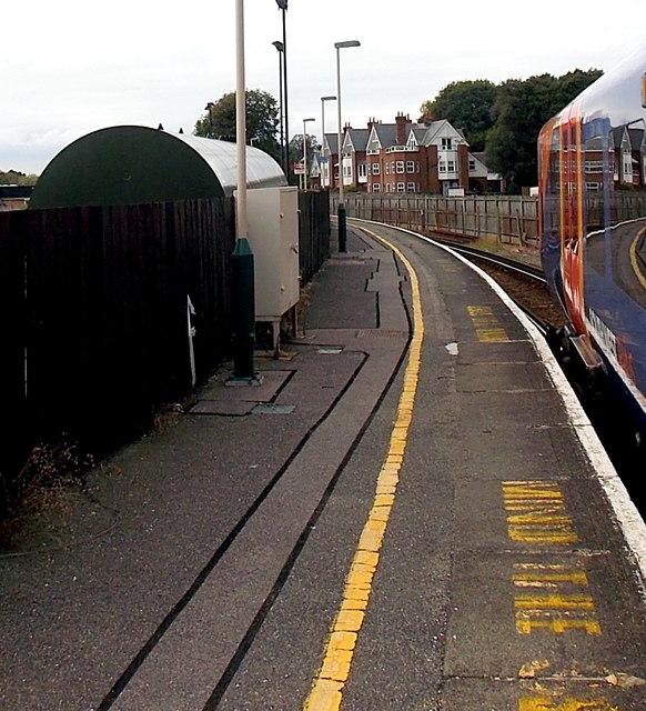 Station platform at Lymington Pier