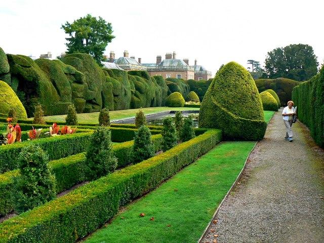 Ornamental gardens, Holme Lacy House, Herefordshire