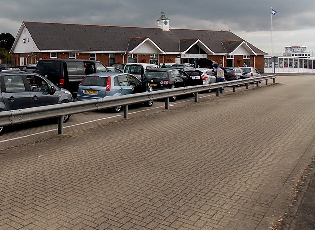 Queueing for the Isle of Wight ferry at Lymington