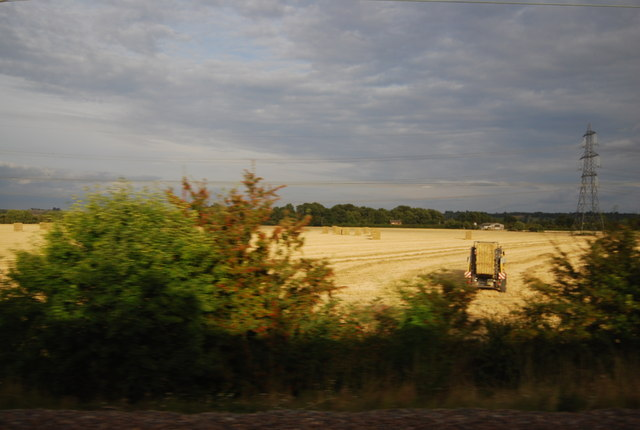 Baling by the East Coast Main Line